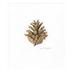David Kiphuth - Cone 1 by David Kiphuth - David Kiphuth captures the symmetry of nature in this detailed pinecone watercolor. If you love the calm and simplicity of earthy colors in the bedroom, this is just what you need to round out the space or harmonize the look of other botanicals in your collection.