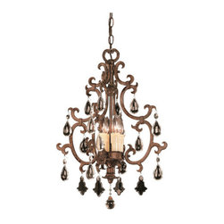 Savoy House - Savoy House 3-1405-4 Wrought Iron Four Light Up Lighting Foyer / Urn Pendant fro - Four Light Up Lighting Foyer / Urn PendantElegantly designed, Dramatic brilliance and exceptional European styling Requires 4 60w Candelabra Bulbs (Not Included)
