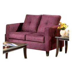 Chelsea Home Furniture - Chelsea Home Heather Loveseat in Bulldozer Eggplant - Heather loveseat in bulldozer eggplant belongs to Triad collection by Chelsea Home Furniture