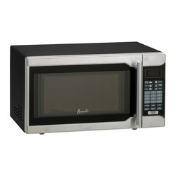 Avanti - .7 Cubic-Foot 700W Microwave Black / Stainless Steel - Avanti .7 Cu Ft 700 Watt Microwave. 700 Watts of cooking power. Electronic control panel. One touch cooking programs. Speed defrost. Cook / defrost by weight. Minute timer. Turntable with glass tray. Black cabinet w/ stainless steel front and handle.