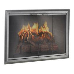 Apex Aluminum Fireplace Glass Door - Custom Product -