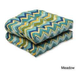 Pillow Perfect - Pillow Perfect Outdoor Tamarama Wicker Seat Cushion (Set of 2) - Pillow Perfect Outdoor Tamarama Wicker Seat Cushion (Set of 2)