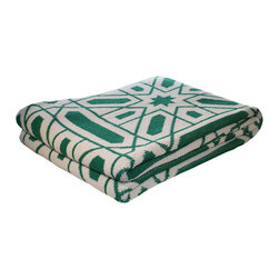 Navigating Stars Throw Blanket - The Navigating Stars Throw Blanket adds a warm and comfy look to any room. Made in the USA from 80% recycled cotton and 20% acrylic, this throw feels super soft and is versatile enough to drape over a sofa or bed's end. Its geometric design and color make any room feel rich and stylish. This easy to care for accent piece can be used throughout each season for stylish warmth.