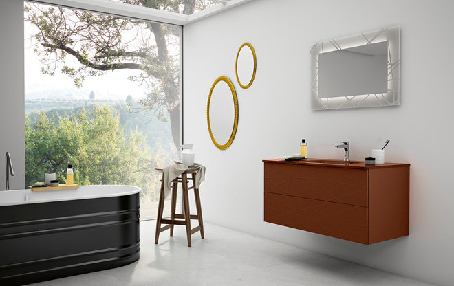 Contemporary Bathroom Vanities And Sink Consoles by Italian Kitchen and Bath