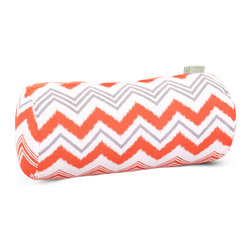 Majestic Home - Outdoor Orange Zazzle Round Bolster Pillow - Add a splash of color and a little texture to any environment with these great indoor/outdoor plush pillows by Majestic Home Goods. The Majestic Home Goods Round Bolster Pillow will add additional comfort to your living room sofa or your outdoor patio. Whether you are using them as decor throw pillows or simply for support, Majestic Home Goods Round Bolster Pillows are the perfect addition to your home. These throw pillows are woven from Outdoor Treated polyester with up to 1000 hours of U.V. protection, and filled with Super Loft recycled Polyester Fiber Fill for a comfortable but durable look. Spot clean only.