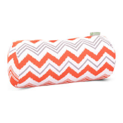 Outdoor Orange Zazzle Round Bolster Pillow