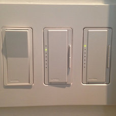 Screwless light switches, lutron lights