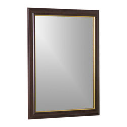 Decor Wonderland Mirrors - Decor Wonderland Milan Large Framed Wall Mirror - Chic and smart large framed wall mirror combines functionality and style in a mirror. Perfect for any room or hallway this mirror suits both traditional and contemporary home decor.