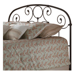 Fashion Bed - Fashion Bed Grafton Metal Headboard in Rusty Gold Finish-Queen - Fashion Bed - Headboards - B42335 - Excellence without excess. Simple in design with subtle decorative details like beautifully scrolled metalwork featuring a circle motif adding a classic flair the Grafton is practical and functional with a streamlined style that's sure to please.