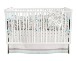 """Wink Baby Crib Bedding Set - The two piece baby bedding crib set includes a crib sheet and a 17"""" tailored skirt. Three piece set includes bumper, sheet and skirt. Bumper is slip covered for easy cleaning. Make it a four piece set by including a coordination blanket."""