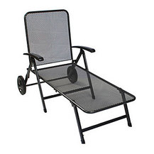 Shop patio furniture wrought iron products on houzz for Chaise kettler