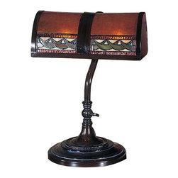 Dale Tiffany - Dale Tiffany Egyptian Desk Lamp - TA100682 - Shade Material: Mica / Tiffany / Metal