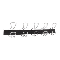 None - Alba Modern 5 Peg Metal / Plastic Wall Mount Coat Hook - Don't let the versatile simplicity of this coat hook rack fool you,it's as sturdy as it is stylish. Hold up to 44 pounds on each rounded hook designed to prevent damage to clothing.