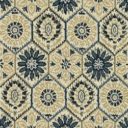 """Loloi Rugs - Loloi Rugs Taylor Collection - Ivory / Navy, 5'-0"""" x 7'-6"""" - The colors are vivid and the designs are beautiful, but what's really special about the Taylor Collection is its knobby, textural feel underfoot. That's because each Taylor rug is hand-hooked by skilled artisans in India to form a thick 100% wool pile. And with transitional designs ranging from trendy chevron patterns to fresh damasks, it's easy to find just the right style for your home."""