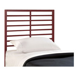 Hillsdale - Hillsdale Latimore Headboard in Red Finish - Hillsdale - Headboards - 1737370 - Our Latimore Bed offers chic modern style in an affordable package. Available in charcoal black glossy red metallic silver or white. The ladder-back inspired bed or headboard bring a contemporary visual statement to the bedroom. The Latimore is available in all finishes in twin and  full queen and king sizes in charcoal black only.