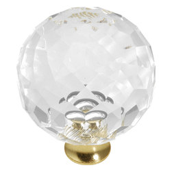 Hickory Hardware - Crystal Palace Crysacrylic Polished Brass Cabinet Knob - Classic lines, finishes and styles create a warm and comforting feel. Usually 18th-century English, 19th-century neoclassic, French country and British Colonial revival. Use of classic styling and symmetry creates a calm orderly look.