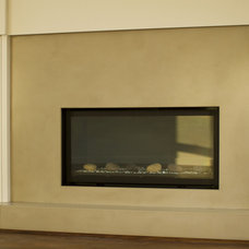 Traditional Indoor Fireplaces by 2Stone Designer Concrete