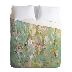 Watercolor Duvet Cover - Top your bed with a swirl of watercolors that will be sure to inspire fantasical dreams. Made from a medium-weight woven polyester, with a hidden zipper and interior ties to secure your comforter, this duvet will spruce up your bedroom in a pinch.