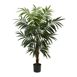 Nearly Natural - 4.5' Bulb Areca Tree - Here's a 'bold yet whimsical' addition to your decor. This beautiful Bulb Areca tree stands more than 4 feet in height, with its thick trunk giving way to cascading fronds and green leaves, ready to delicately dance in the breeze. This delightful tree will add some natural beauty to any home or office, with the added bonus of never needing water or sunshine. Makes a great gift as well.