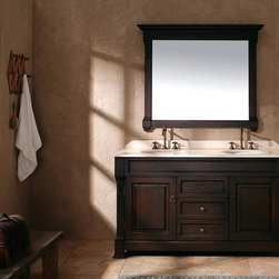 "60"" Peruga Double Sink Vanity - Burnished Mahogany -"
