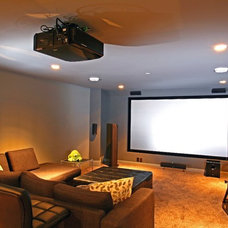 Contemporary Home Theater by Odenza Homes Ltd