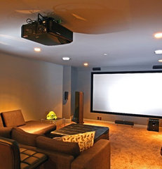 contemporary media room by Odenza Homes Ltd