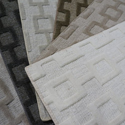 Showroom Products - Great looking geometric pattern made of wool and viscose.  Area rugs up to 13' wide and any length.  Great choice of colors.  Purchase at Hemphill's Rugs & Carpets Orange County, CA