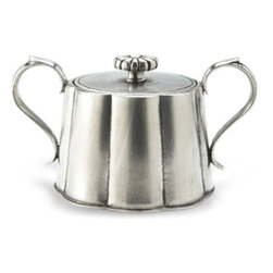 Match Pewter - Britannia Sugar Bowl by Match Pewter - Using methods that predate the Renaissance, Match artisans fashion pewter into functional objects of warmth and beauty. Serve your coffee or tea in style with this charming collection from Match pewter.