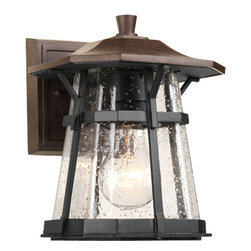 "Progress Lighting - Progress Lighting P5749-84 One-Light Small Wall Lantern (6.5"") With Clear Seeded - One-light Small Wall Lantern (6.5"")"