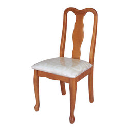 Welcome Home Accents - Oak Desk Chair - Oak finish desk chair.Easy assembly-neutral cream design fabric cushion.  Assembly required.  Perfect for the home office or anywhere an extra chair is needed.Desk and Hutch sold separate