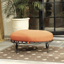 Corsica Ottoman with Self Piped Cushion