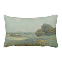 "Poetic Pillow - Green Fields Poetic Pillow - Size: 16"" X 24"" rectangular pillow"