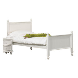 Homelegance - Homelegance Whimsy Kids' Panel Bed in White - Twin - Today your little girl loves purple tomorrow white or maybe green or was it yellow? The Whimsy collection offers her the option to customize her room to reflect those fantastic whims of youth. Each front drawer panels of the case pieces can be flipped to reveal a different color floral motif. The cottage style collection features cases goods that have been scaled to fit into your child s world.