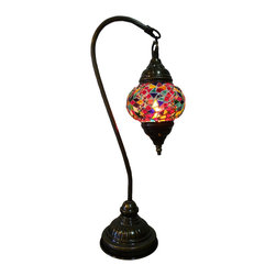 Unique Style Tribal Mosaic Lamp - Sultans Joy Lamp - Authentic Desk Lamp , Moroccan Style Lamp , Night Lamp, Exotic Lamp