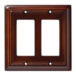 Liberty Hardware - Liberty Hardware 126379 Wood Architectural WP Collect 5.51 Inch Switch Plate - E - Use this Liberty Architectural MDF 2-Gang Espresso Rocker Switch Wallplate to decoratively cover a combination of 2 paddle switches or GFCI receptacles. Change out your old wall plates to give any room a new look. Mounting screws are included for installation convenience.. Width - 5.51 Inch,Height - 5.2 Inch,Projection - 0.4 Inch,Finish - Espresso,Weight - 0.22 Lbs