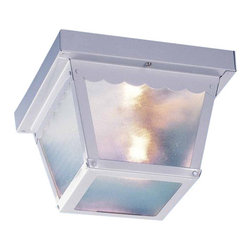 Volume Lighting - Volume Lighting V7231 1 Light Flush Mount Outdoor Ceiling Fixture - One Light Flush Mount Outdoor Ceiling FixtureAccent your home d�cor this stylish 1 light flush mount outdoor ceiling fixture featuring delightful clear textured glass.Features: