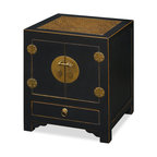 China Furniture and Arts - Ming Style Cabinet - Our reproduced Ming cabinet is a fine example of the spare, elegant design with antique brass hardware and hand-painted distressed black finish, which strongly states the contemporary decorative style. Hand-crafted in Elmwood, this piece does not only serve as a function of art but also as practical storage in any room.