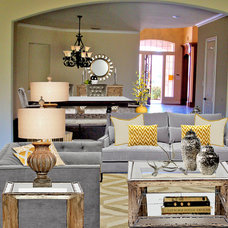Transitional Living Room by Bolen Designs