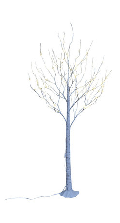 Lightshare - Lightshare BirchTree: 10 Icicle Twinkling Light, Warm White, 6ft 72 lights - You will get a free gift with this purchase which is 10 LED Icicle Twinkling (white/Blue) Decoration Light, 6.5ft length, with 3AA battery operated, which is packed in a nice color box together with the snow tree package.