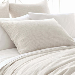 Pine Cone Hill - parchment linen sham (sand) - This item comes in��sand.��This item size is��euro or std.