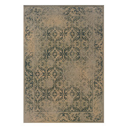 "Oriental Weavers - Sphinx Chloe 3867C Indoor Polypropylene Area Rug 5'3"" X 7'6"" - Chloe is a collection of heat-set, machine-made area rugs in soft, romantic shades such as blush, smoky orchid, slate blue and warm copper. Styling is reminiscent of old world vintage looks with simple traditionals and washed transitional pieces."