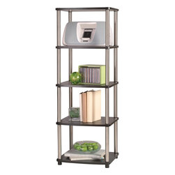 Convenience Concepts - Convenience Concepts 5 Tier Media Tower X-32307 - The open shelves of the Deisgns2Go 5-Tier Media Tower brings you easy storage access. Featuring 5 levels of spacious storage that is designed to meet your space needs while providing durable and efficient furniture. This shelving unit will add a bold touch to any room.