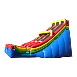 Kidwise - Kidwise 28 ft. Double Lane Inflatable Slide - KE-SL3170 - Shop for Tents and Playhouses from Hayneedle.com! Kids and adults can satisfy their need for speed with the exciting fast paced sliding action of the Kidwise 28 ft. Double Lane Inflatable Slide. This dual slide commercial grade inflatable will be the main attraction at birthday parties church functions fairs festivals or block parties. It s made of durable 18-ounce colorful PVC vinyl and features safety netting and curved stop walls. It also comes complete with blower repair kit stakes tarp and even a blank banner for advertising. All slides come with replaceable high-density foam steps and replaceable slide blankets.About Kidwise ProductsThis item is made by Kidwise Outdoors a company whose focus is safe fun excitement for kids. Kidwise strives to promote safe play for kids of all ages through outside activities. Their line of products includes swing sets trampolines inflatable bouncers bikes sport goals and many other items to choose from. Kidwise guarantees all of their products against defects. Like Hayneedle their goal is 100% satisfaction from customers. Their product lines focus on kid-friendly items that are fun to play with and stimulate balance and a healthy lifestyle for kids.
