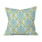 Rebekah Ginda Design Lovely Damask Outdoor Throw Pillow - Do you hear that noise? it's your outdoor area begging for a facelift and what better way to turn up the chic than with our outdoor throw pillow collection? Made from water and mildew proof woven polyester, our indoor/outdoor throw pillow is the perfect way to add some vibrance and character to your boring outdoor furniture while giving the rain a run for its money.