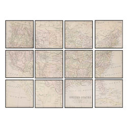 Paragon - United States Map PK/12 - Framed Art - Each product is custom made upon order so there might be small variations from the picture displayed. No two pieces are exactly alike.