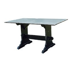 Fable Porch Furniture - Country Trestle Dining Table - Is that the dinner bell? Gathered around this table, your family will think they've been transported back to the old farmstead. Please pass the potatoes, Ma.