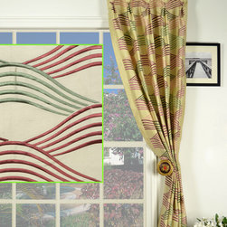 curtains (left: fabric; right:style) -