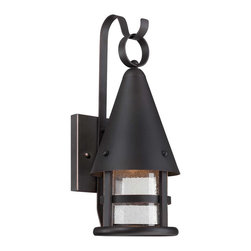 Savoy House - Savoy House 5-9500-DS-25 Woodsmith Small DS Lantern - Accent your home's exterior with Woodsmith, a charming outdoor light from Savoy House. Dark Sky compliant, this lantern features Seedy glass paired with a Slate finish.