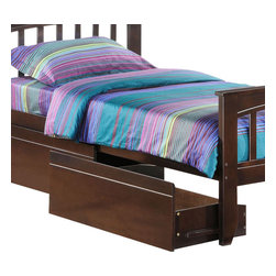 Night & Day Furniture - Night and Day Zest Underbed Drawer Set - Cherry - Take care of your kids' needs for beds, bunks and storage with our Zest Bedroom collection for Night and Day. Smart quality at extraordinary value. We have gone to great lengths to design and engineer this complete line to keep your cost down and your pleasure up
