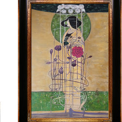 "overstockArt.com - Mackintosh - Design for a Wall Decoration - 24"" X 36"" Oil Painting On Canvas Hand painted oil reproduction of a famous Mackintosh design, Design for a Wall Decoration . Today the painting has been carefully recreated detail-by-detail, color-by-color to near perfection. Charles Rennie Mackintosh (7 June 1868 - 10 December 1928) was a Scottish architect, designer, water colourist and artist. He was a designer in the post impressionist movement and also the main representative of Art Nouveau in the United Kingdom. He had considerable influence on European design. He was born in Glasgow and he died in London."